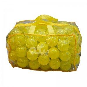 توپ زرد کیفی کودک بسته 100 تایی کد0051