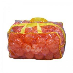 توپ نارنجی کیفی کودک بسته 100 تایی کد 0051