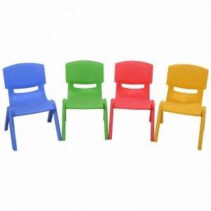 صندلی کودک طرح لبخند رنگ زرد کد 5029