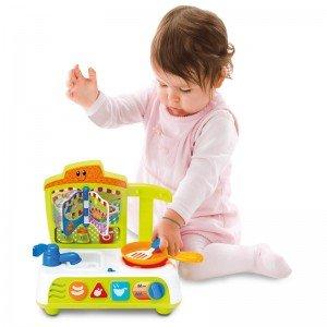 آشپزخانه کودک موزیکال سبز winfun 00755