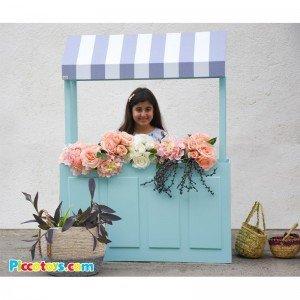 غرفه گل فروشی چوبی کد 0010