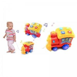 بازی و تفریح با قطار موزیکال قرمز winfun 00677