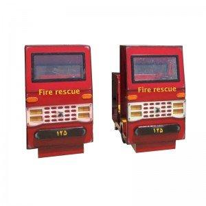ماکت ماشین آتش نشانی چوبی
