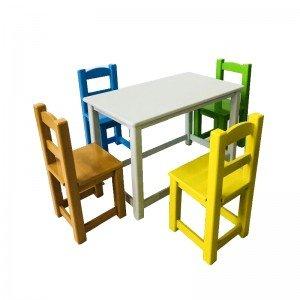 میز و صندلی چوبی Mn-187