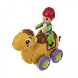 شتر قهوه ای با آدمک hulie toys 366B