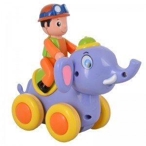 فیل بنفش با آدمک مدل hulie toys 366A