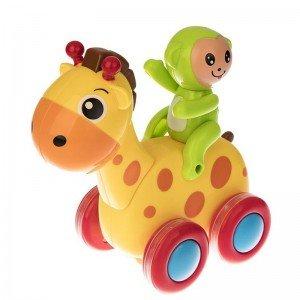 زرافه با میمون سبز مدل  hulie toys 366E