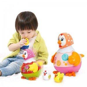 مرغ قرمز موزیکال hulie toys 6102