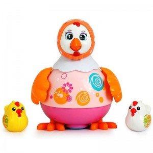 مرغ صورتی موزیکال hulie toys 6102