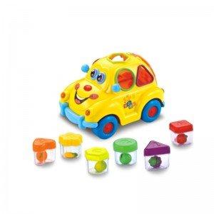 جورچین و ماشین فولکس چراغ دار hulie toys 516
