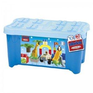 پازل و جورچین بزرگ 60 تکه جعبه ای آبی ecoiffier E7747