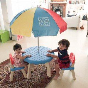بازی و تفریح  کوکان با میز و صندلی چتر دار مدل grow'n up 30171