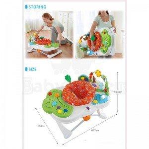 ابعاد و اندازه میز بازی دوکاره fisher price 7323