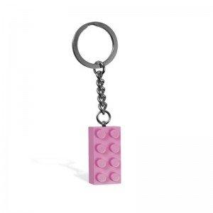 جا کلیدی لگو stud pink 2x4 Key Chain lego 852273