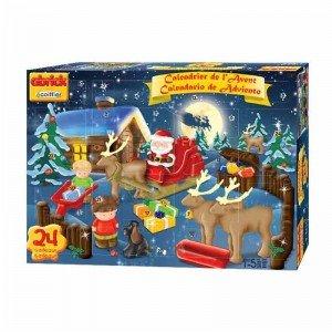 بلوک های ساخت و ساز  24 تکه حیوانات کریسمس مدل ecoiffier 3115