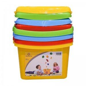 تنوع رنگی در جعبه درب دار لگو و اسباب بازی زرد کد 85929