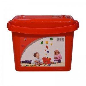 جعبه درب دار لگو و اسباب بازی قرمز کد 85929