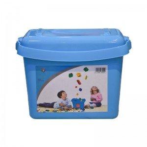 جعبه درب دار لگو و اسباب بازی آبی مدل  85929