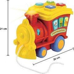 ابعاد و اندازه قطار موزیکال قرمز winfun 00677
