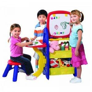 قفسه اسباب بازی،میز و تخته نقاشی
