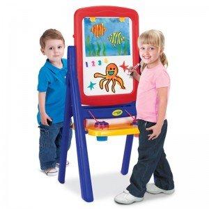 تخته نقاشی کودک دوطرفه آبی قرمز با لوازم crayola 50331