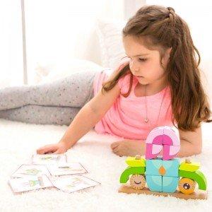 بلوک 24 تکه چوبی classic world Owl Blocks set  بهترین هدیه برای کودکان