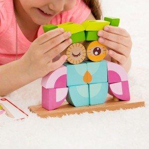 بازی و سرگرمی با بلوک 24 تکه چوبی classic world مدل Owl Blocks set 3708