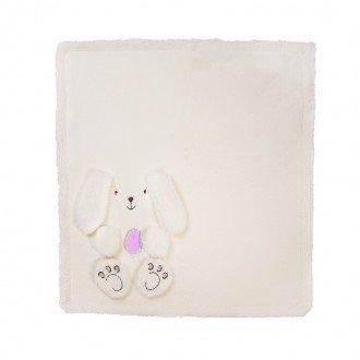 پتوی خرگوشی کرم صورتی کودک  1202