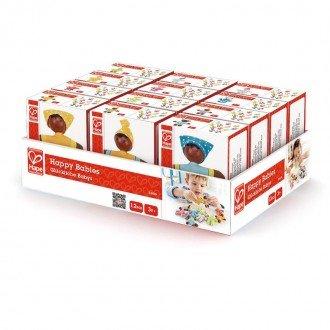 بسته بندی عروسک چوبی کوچک کودک شاد hape 3510