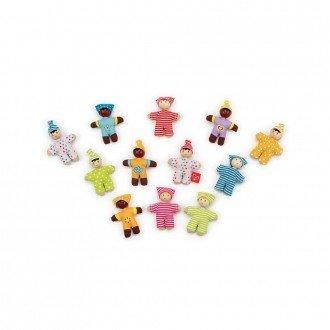 تنوع رنگ و طرح در عروسک چوبی کوچک کودک شاد hape 3510