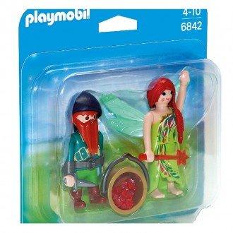 پلی موبيل مدل Playmobil 6842 Elf And Dwarf Duo Pack