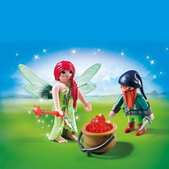 پلی موبيل مدل Playmobil 6842 Elf And Dwarf Duo Pack