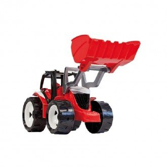 LENA - Strong giant tractor with front loader, red