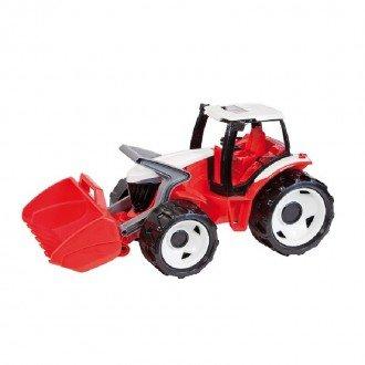 تراکتور بزرگ قرمز LENA - Strong giant tractor with front loader, red