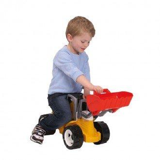 بازی و سرگرمی با لودر بزرگ زرد قرمز LENA 02063 - Strong giant shovel loader red and yellow