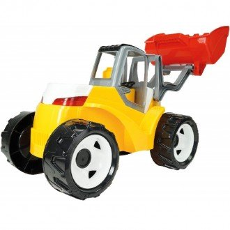 لودر بزرگ زرد قرمز LENA 02063 - Strong giant shovel loader red and yellow