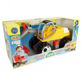 بسته بندی بیل مکانیکی بزرگ زرد قرمز Lena 02062 - Strong giant digger
