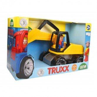 بسته بندی بیل مکانیکی  زرد مشکی Lena 04411 - Truxx excavator