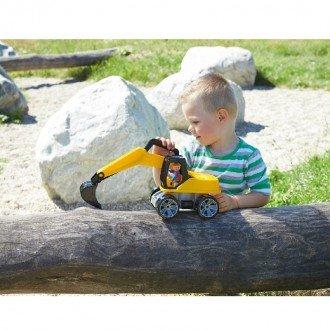 بازی و سرگرمی با بیل مکانیکی  زرد مشکی Lena 04411 - Truxx excavator