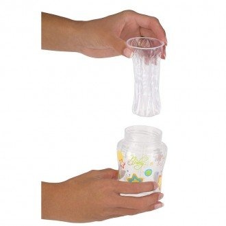 شیشه شیر گردطرحدار ضد نفخ nubyکد92466