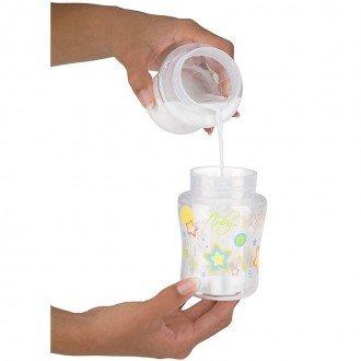 شیشه شیر سبز  180 میل با کاور سفری nuby 92466