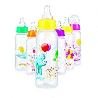 تنوع طرح شیشه شیر  240ml  nuby 1486