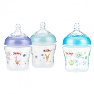 شیشه شیر طرح دار nuby 1193