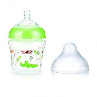 شیشه شیر سبز طرح دار nuby 1193