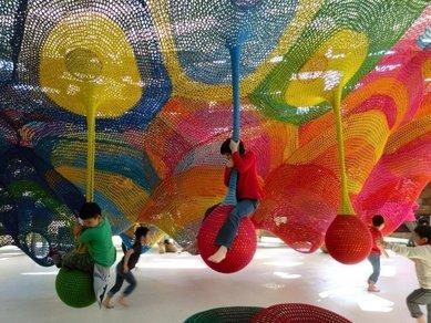 رنگین کمانی برای بازی اختصاصی کودکان در ژاپن