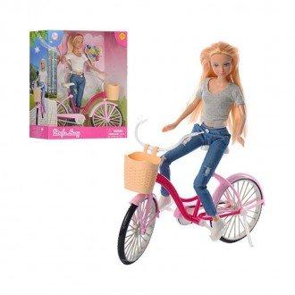 عروسک دفا با دوچرخه (تیشرت سفید) مدل 8361