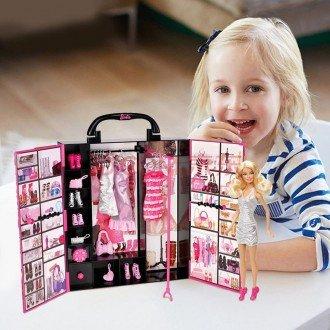 بازی و سرگرمی با عروسک باربی با کمد لباس و لوازم 4833