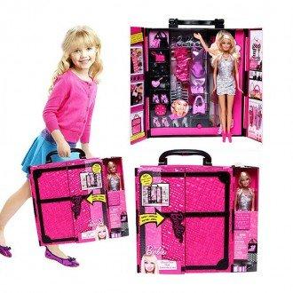 بسته بندی عروسک باربی با کمد لباس و لوازم 4833