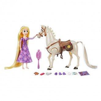 اجزای ست عروسک راپونزل با اسب مدل 56121