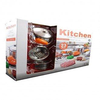 ست ظروف و لوازم آشپزحانه استیل 23 تکه مدل 555011